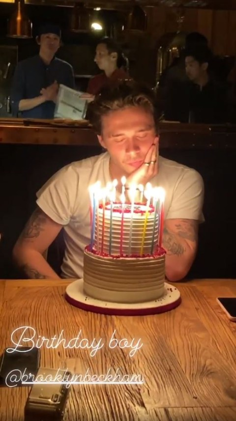 Surprising Brooklyn Beckham Gets Shy During 21St Birthday Dinner Speech Personalised Birthday Cards Paralily Jamesorg