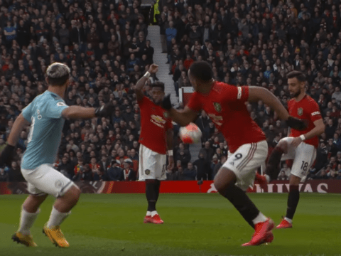 The key role Fred played in Anthony Martial's goal against Manchester City