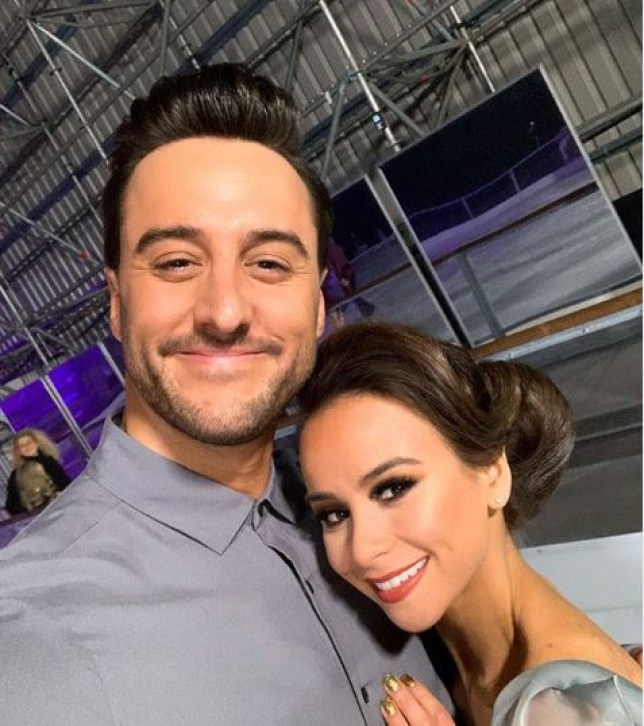 Dancing On Ice's Carlotta Edwards and Alexander Demetriou