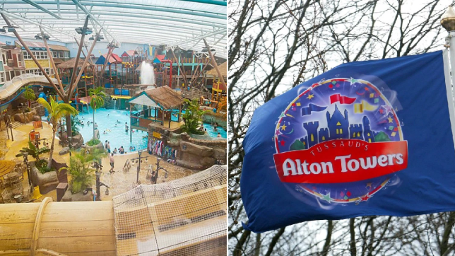 The waterpark was closed at lunchtime today