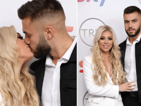 Love Island winners Paige Turley and Finley Tapp pack on the PDA at the TRIC Awards
