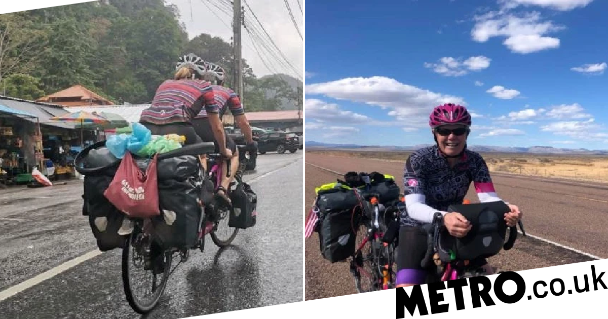 Women break record for cycling around the world as borders close