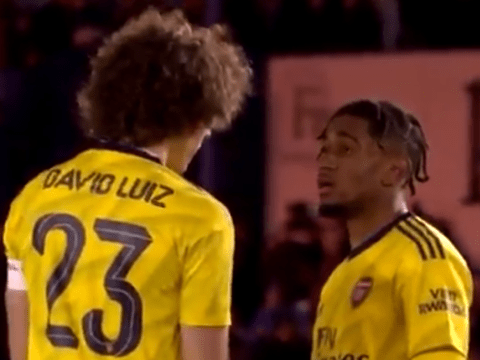David Luiz sends message to Arsenal youngsters after he's seen giving Reiss Nelson advice
