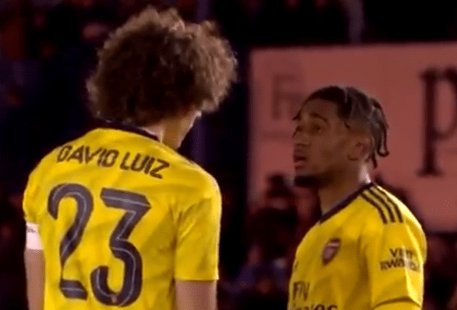 David Luiz passed on some advice to Reiss Nelson after Arsenal beat Portsmouth
