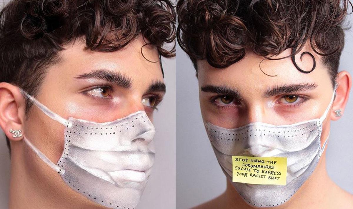 masque noir coronavirus