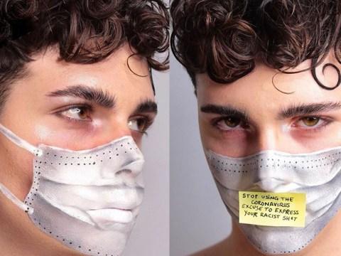 Italian makeup artist creates coronavirus mask look to send an important message