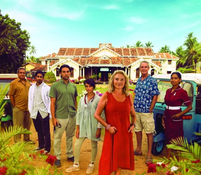 The cast of The Good Karma Hospital