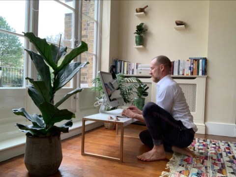 Where I Work: Tony, a barefoot athlete and lifestyle coach who doesn't have any chairs in his home