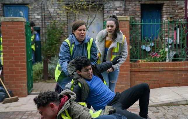 Fight in Coronation Street