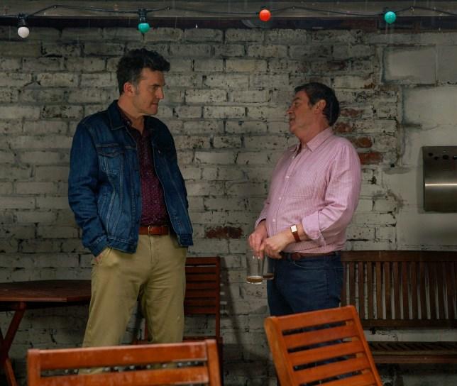 Johnny and Scott in Coronation Street