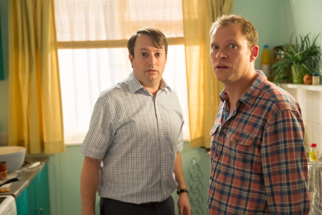 Television programme: Peep Show Series 9: Episode 3 - (Robert Webb as Jeremy and David Mitchell as Mark)