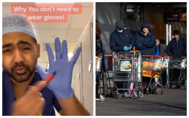 Dr Karan Rangarajan created a useful video to warn shoppers about wearing gloves during the coronavirus outbreak