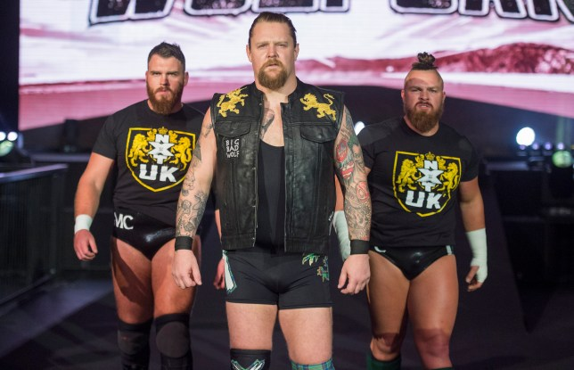 WWE NXT UK superstars Gallus - Joe Coffey, Mark Coffey and Wolfgang