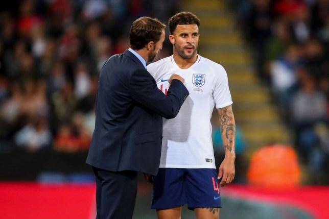 England boss Gareth Southgate and Kyle Walker