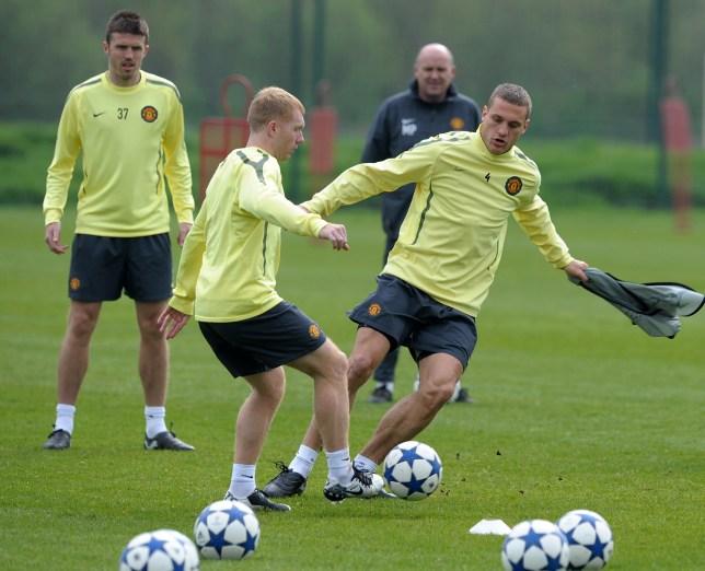 Nemanja Vidic was a 'lunatic' in training, according to Paul Scholes (Picture: Getty)