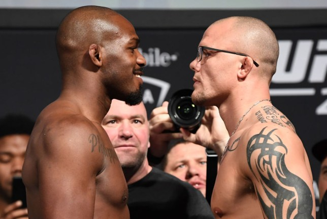 Jon Jones and Anthony Smith face off before their UFC fight