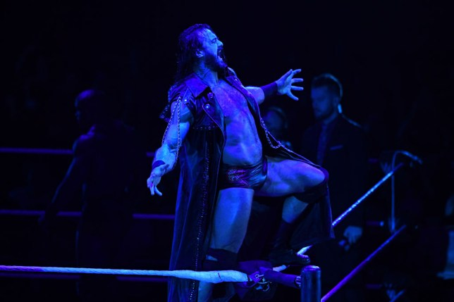 Drew McIntyre enters the ring during a WWE match