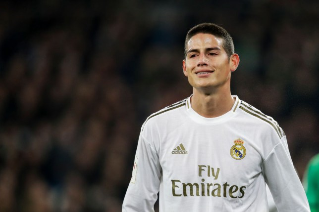 James Rodriguez is pictured in action for Real Madrid