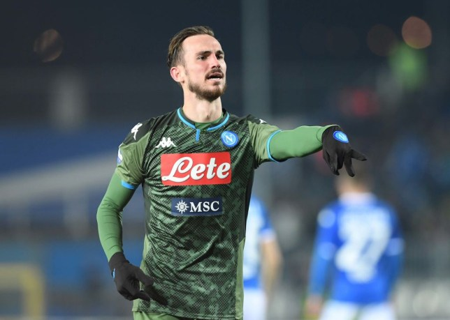 BRESCIA, ITALY - FEBRUARY 21: Fabian Ruiz of Napoli celebrates after scoring the second goal of his team during the Serie A match between Brescia Calcio and  SSC Napoli at Stadio Mario Rigamonti on February 21, 2020 in Brescia, Italy.  (Photo by SSC NAPOLI/SSC NAPOLI via Getty Images)