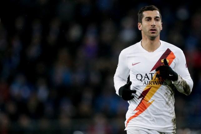 Arsenal loanee Henrikh Mkhitaryan during Roma's clash with Gent