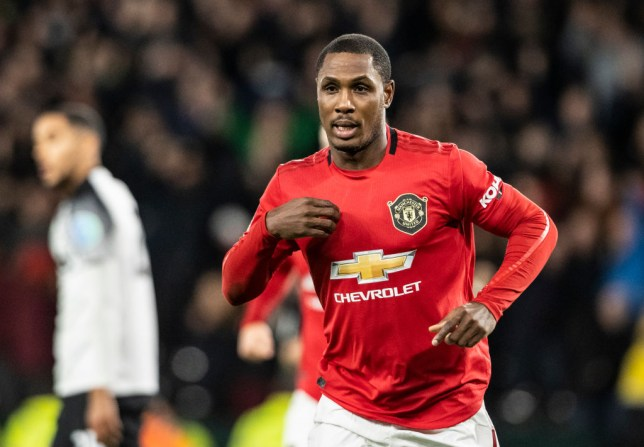 DERBY, ENGLAND - MARCH 05: Manchester United's Odion Ighalo celebrates scoring his side's second goal during the FA Cup Fifth Round match between Derby County and Manchester United at Pride Park on March 5, 2020 in Derby, England. (Photo by Andrew Kearns - CameraSport via Getty Images)