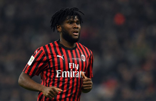 MILAN, ITALY - FEBRUARY 13: Frank Kessie of AC Milan looks on during the Coppa Italia Semi Final match between AC Milan and Juventus at Stadio Giuseppe Meazza on February 13, 2020 in Milan, Italy.  (Photo by Alessandro Sabattini/Getty Images)