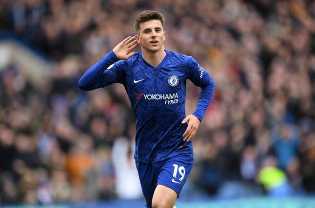 Mason Mount celebrates scoring a goal for Chelsea