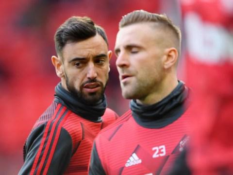 Luke Shaw praises 'leader' Bruno Fernandes' impact on Manchester United dressing room