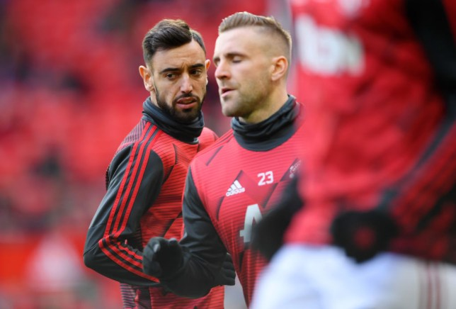 Man Utd stars Bruno Fernandes and Luke Shaw