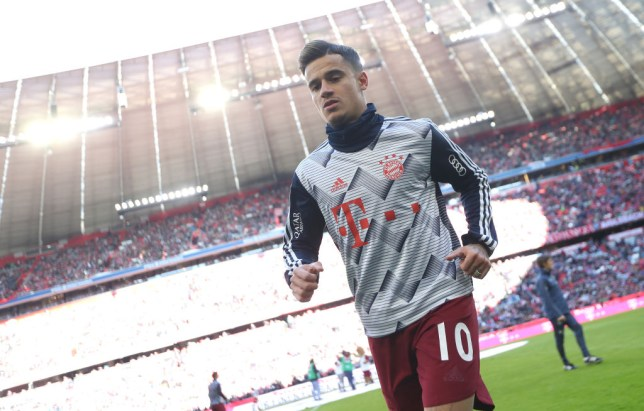 MUNICH, GERMANY - MARCH 08:  Philippe Coutinho of FC Bayern Muenchen leaves the pitch after the warm-up session ahead of the Bundesliga match between FC Bayern Muenchen and FC Augsburg at Allianz Arena on March 08, 2020 in Munich, Germany. (Photo by A. Beier/Getty Images for FC Bayern)