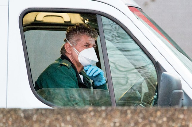 An ambulance driver at St Thomas' Hospital A&E department