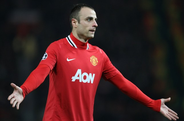 Dimitar Berbatov in action for Manchester United