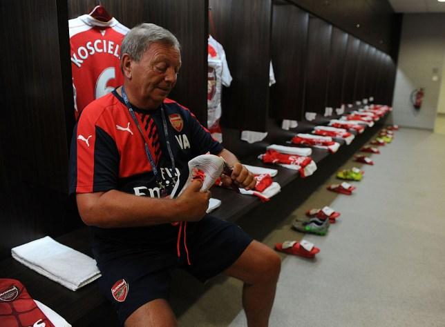 Legendary Arsenal kitman Vic Akers