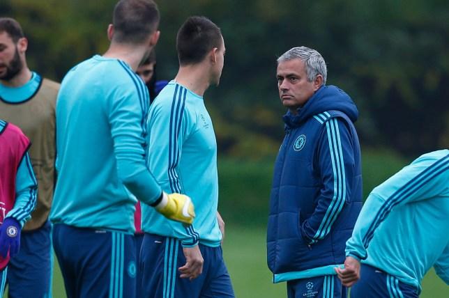 Former Chelsea boss Jose Mourinho and John Terry