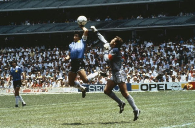 Maradona's infamous Hand of God goal helped knock England out of the 1986 World Cup