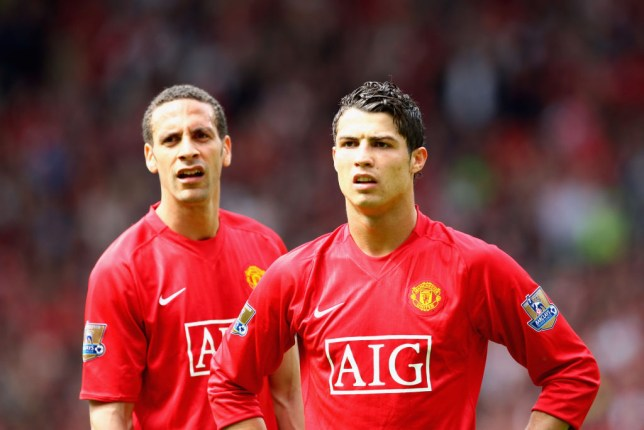 Rio Ferdinand and Cristiano Ronaldo spent six years together at Manchester United