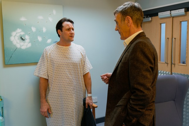 Tony Hutchinson and Edward Hutchinson in Hollyoaks