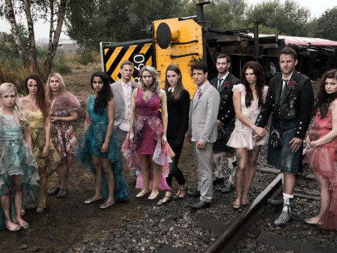 Who died in Hollyoaks' train crash?