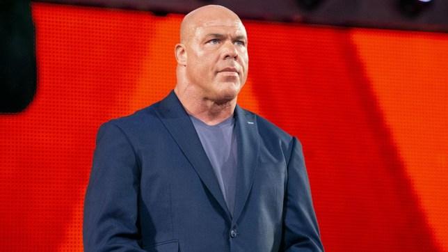 WWE legend and Hall of Famer Kurt Angle on Raw