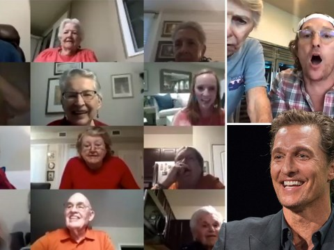 Matthew McConaughey truly is a man of the people as he plays virtual bingo with senior citizens