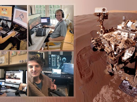 Nasa engineers are controlling a rover on Mars from their homes