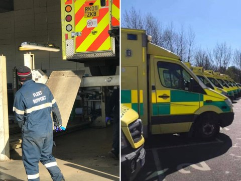 Man arrested after eight ambulances had tyres slashed