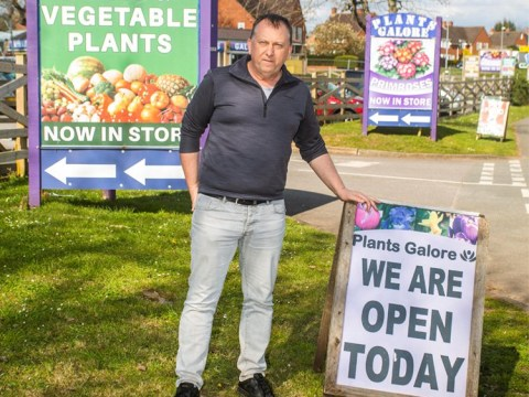 Garden centre owner defies council's order to close amid lockdown