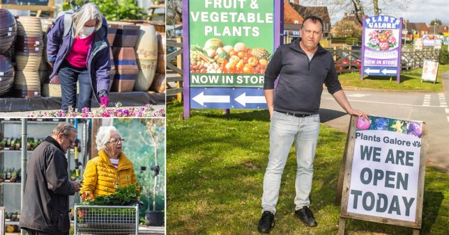A garden centre has decided against closing its doors despite government advice