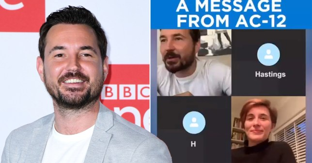 Martin Compston and Vicky McClure share message from AC12 during coronavirus lockdown