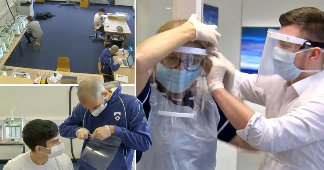 Students take over school's workshop to make protective visors for NHS staff