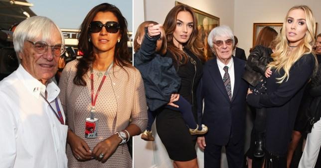 Bernie Ecclestone and wife Fabiana with Tamara and Petra