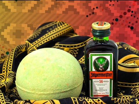 You can now have a boozy bath with a bath bomb that smells like Jägermeister