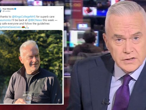 Huw Edwards urges public to 'take care' after being hospitalised with pneumonia