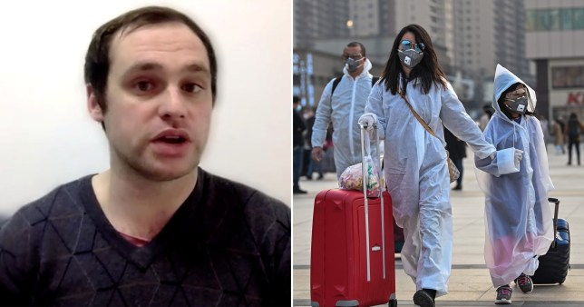 British teacher Connor Reed has been on lockdown in Wuhan, China, since January (Picture: Reuters)